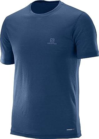 Salomon Explore SS M Camiseta de Manga Corta, Hombre, Azul ...