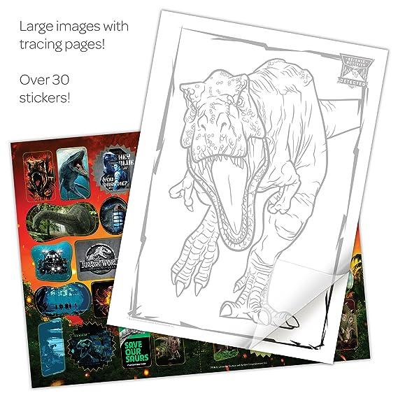 Amazon Bendon 43320 Color And Trace Jurassic World Fallen Kingdom Toys Games