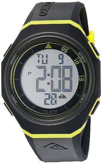 La Breaker Quiksilver para Hombre Reloj Infantil con Mecanismo de Digital Pantalla Digital Coronado Controls y Negro Correa de Silicona QS/1019bkgn: ...