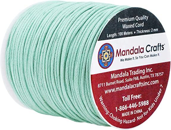 Jewelry Leather Thread; 100M; Beading Cord Macram\u00e9 2mm Navy Blue Waxed Cotton Cord Book Binding; Waxed Cotton Thread