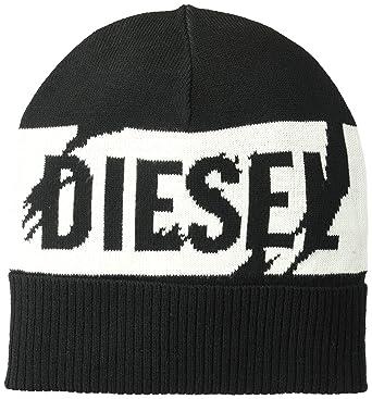 Diesel - Gorro de Punto - para Hombre Negro Blanco y Negro  Amazon.es  Ropa  y accesorios 7e4706e516b