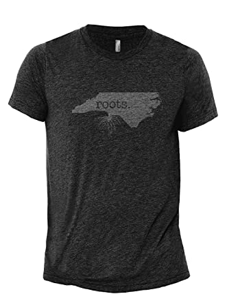2e4f7a552 Home Roots State North Carolina NC Men's Modern Fit Fun Humor T-Shirt  Printed Graphic