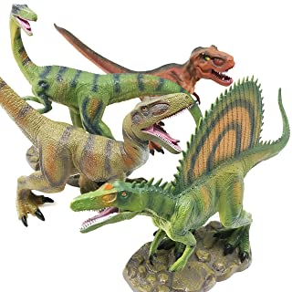 """Boley 4 Pack 12"""" Jumbo Monster Authentic Dinosaur Set - Educational Dinosaur Toy Playset for Kids, Children, Toddlers - Great As Kids Dinosaurs Toys, Dinosaur Party Favors"""