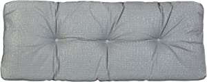 "Klear Vu The Gripper Non-Slip Tufted Omega Universal Bench Cushion, 36"", Gray"