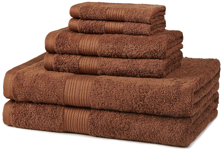 Acorn bathroom furniture - Amazon Com Amazonbasics Fade Resistant Cotton 6 Piece Towel Set Acorn Home Kitchen