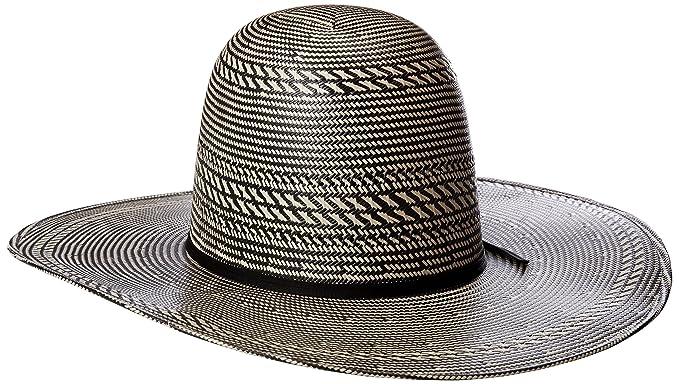889fbab17ad Tony Lama Men s Open Crown Black White Straw Cowboy Hat at Amazon Men s  Clothing store