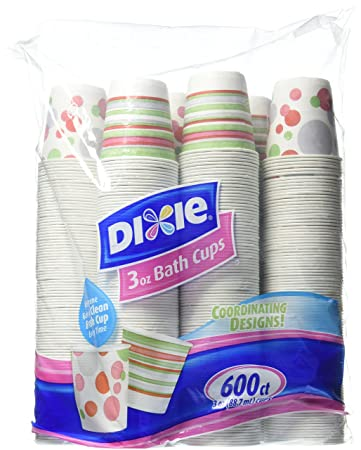 Dixie Bath Cups Coordinating Designs  3 oz  600 Count. Amazon com  Dixie Bath Cups Coordinating Designs  3 oz  600 Count