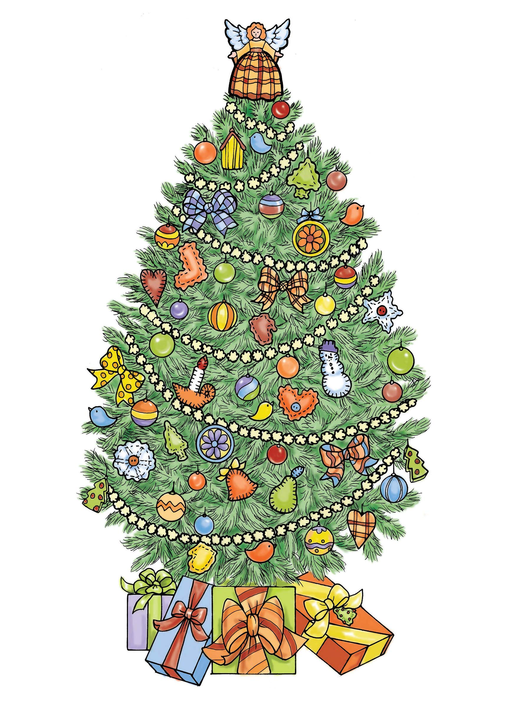Pictures Of Christmas Trees.Amazon Com Creative Haven Christmas Trees Coloring Book
