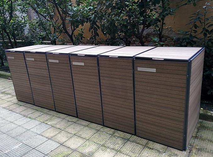 Bio-Box - Cubre contenedor - bidón de recogida selectiva de residuos, modelo H115: Amazon.es: Jardín
