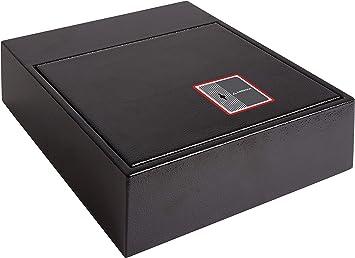 Arregui 20000-S7K- Caja fuerte camuflada para zócalo de armario, color negro: Amazon.es: Bricolaje y herramientas