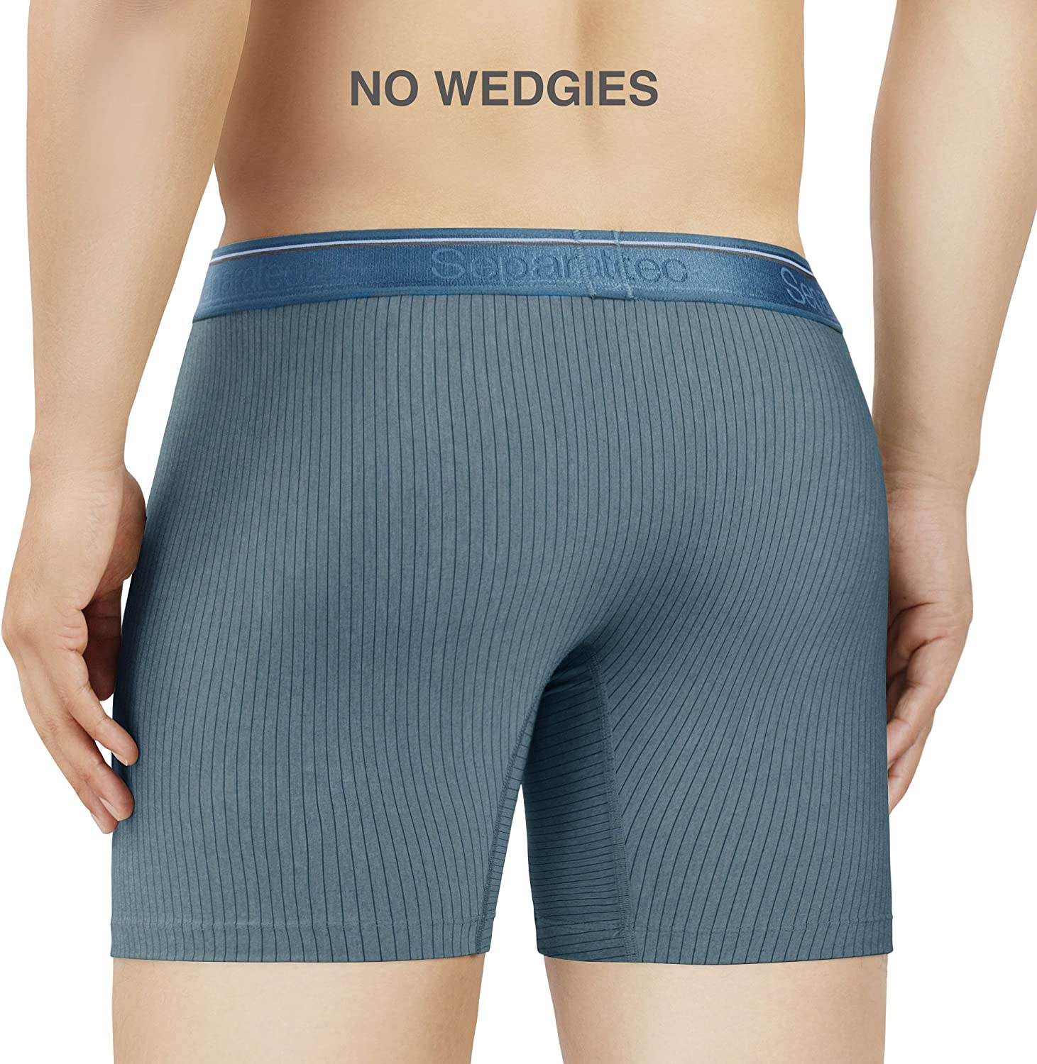 Separatec Men/'s 3 Pack Fast Dry Lightweight Striped Pouches Boxer Briefs