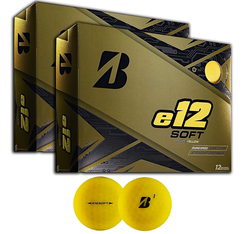 Bridgestone e12 ソフトプレミアムゴルフボール マルチパック Two Dozen イエロー B07P88P4R8