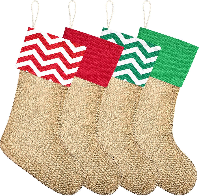 - Amazon.com: Sumind 4 Pieces Christmas Burlap Stockings Xmas