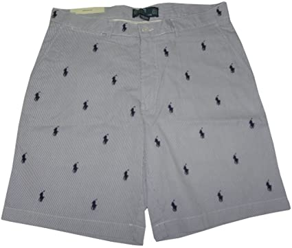 d150bbc1d4 RALPH LAUREN Polo Mens All Over Pony Prospect Shorts Blue/White