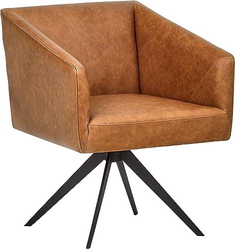 Rivet Vibe Swivel Leather Office Chair