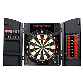 Md Sports Electronic Dartboard Cabinet Set