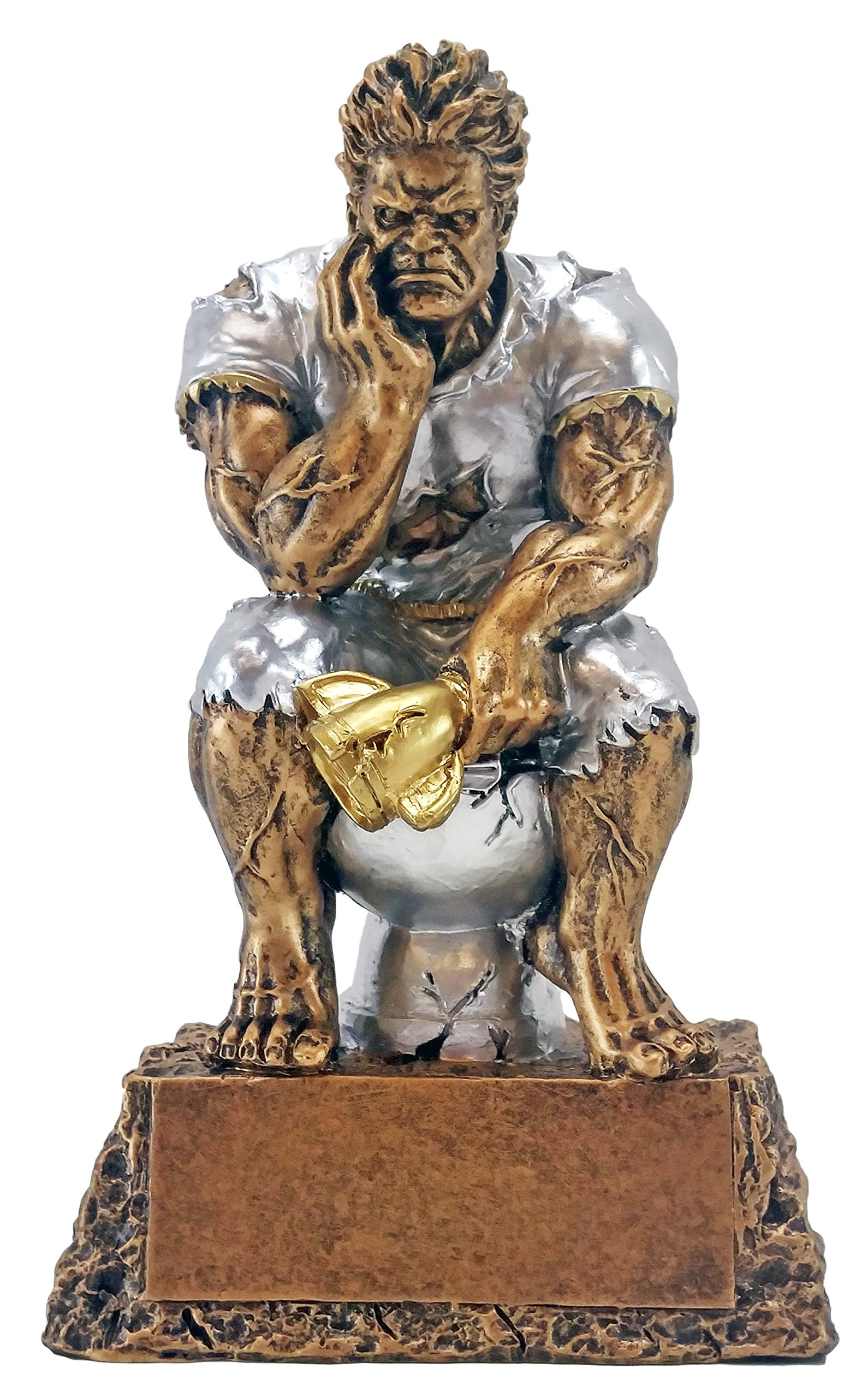 Decade Awards Monster Toilet Bowl Trophy | Loser/Last Place Beast Award | 6.5 Inch - Free Engraved Plate on Request Exclusive