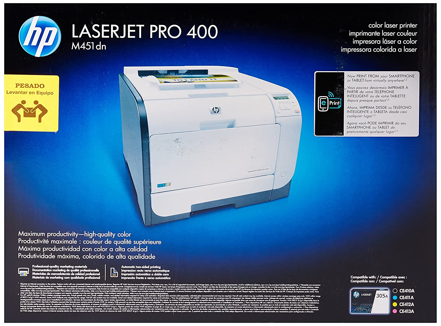 HP Laserjet Pro M451dn Color Printer (Discontinued by Manufacturer) (Renewed)