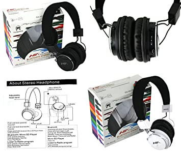 Genuine Nia plegable Q8 - 851S Bluetooth estéreo Micro SD/FM estéreo radio/reproductor de mp3 auricular con micrófono: Amazon.es: Electrónica
