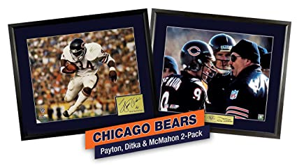761e19fe350 Image Unavailable. Image not available for. Color: Chicago Bears Walter  Payton, Mike Ditka & Jim McMahon 11x14 ...