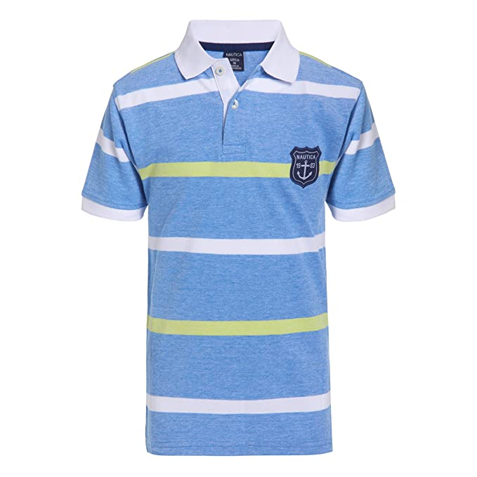 Nautica Boys Short Sleeve Striped Polo: Amazon.es: Ropa y accesorios