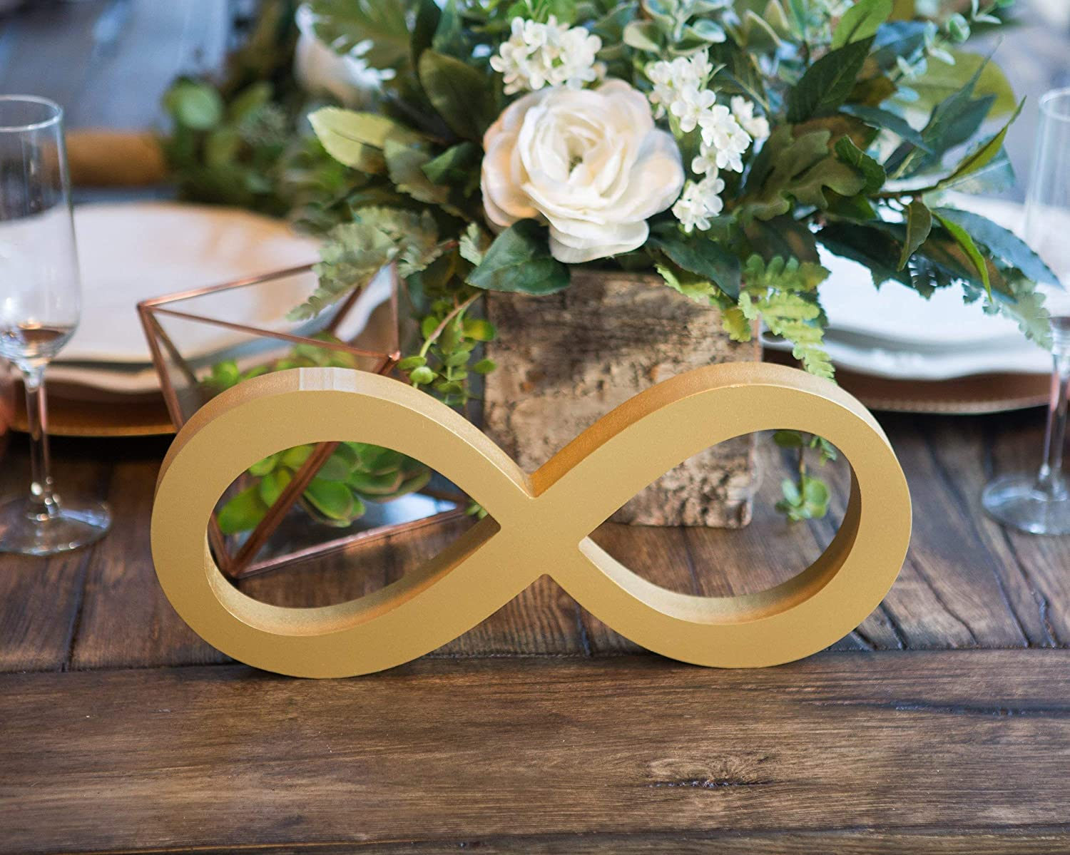 Infinity Table Sign for Wedding Sweetheart Decor Freestanding Thick Infinity Symbol Sign for Reception Centerpiece Decor