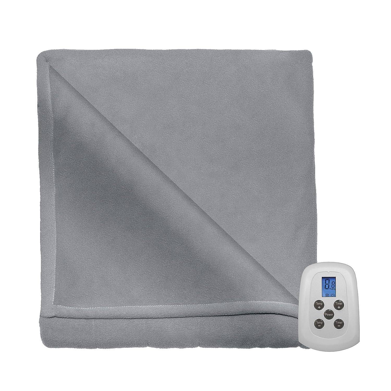 Serta MicroFleece Heated Electric Warming Blanket Natural Twin
