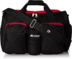 Everest unisex-adult Gym Bag With Wet Pocket ,Red, One Size