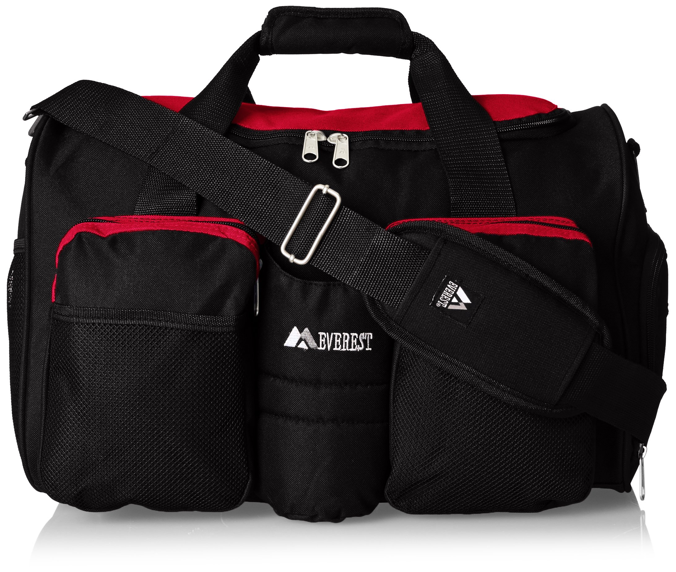 Everest Gym Bag with Wet Pocket, Red, One Size