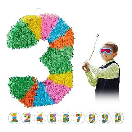 Amazon.com: Relaxdays 10025189_905 - Piñata de cumpleaños ...