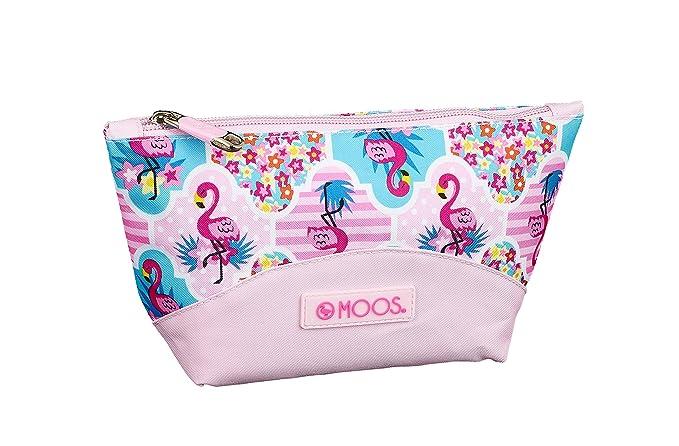 Moos Flamingo Pink Oficial Mochila Escolar Infantil Porta Maquillaje 230x80x120mm: Amazon.es: Ropa y accesorios