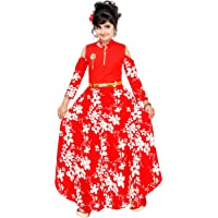 ARK DRESSES , Girls Fancy Floral Dress