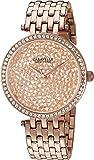 Caravelle New York Women's 44L222 Swarovski Crystal  Rose Gold Tone Watch