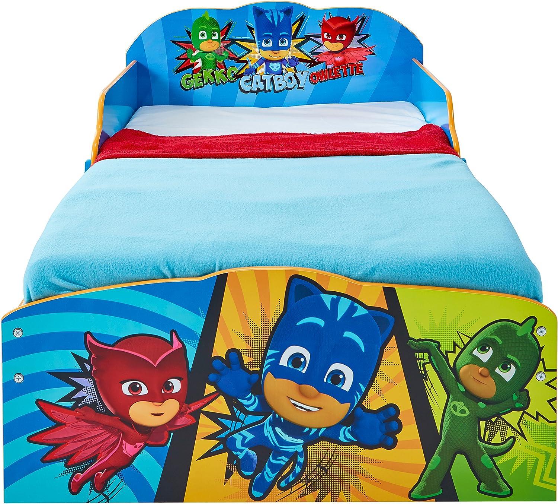 Lettino per bambini con contenitore sottoletto PJ Masks Super Pigiamini