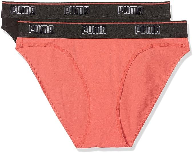 Puma Silver Bikini 2P, Braguita Deportiva para Mujer, Negro (Black 200), 34(Tallas De Fabricante: 005)(Pack de 2): Amazon.es: Ropa y accesorios