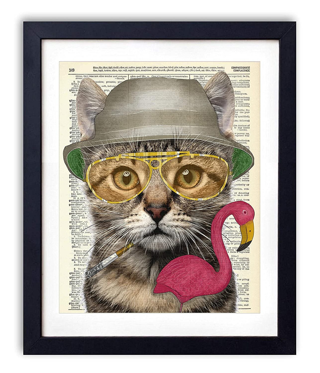 Amazon Com Hunter S Cat Home And Bedroom Wall Decor Vintage Wall Art Upcycled Dictionary Art Print Poster For Room Decor 8x10 Inches Unframed Handmade