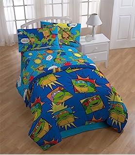 4pc teenage mutant ninja turtles twin bedding set tmnt team turtles comforter and sheet set - Twin Bed Comforters