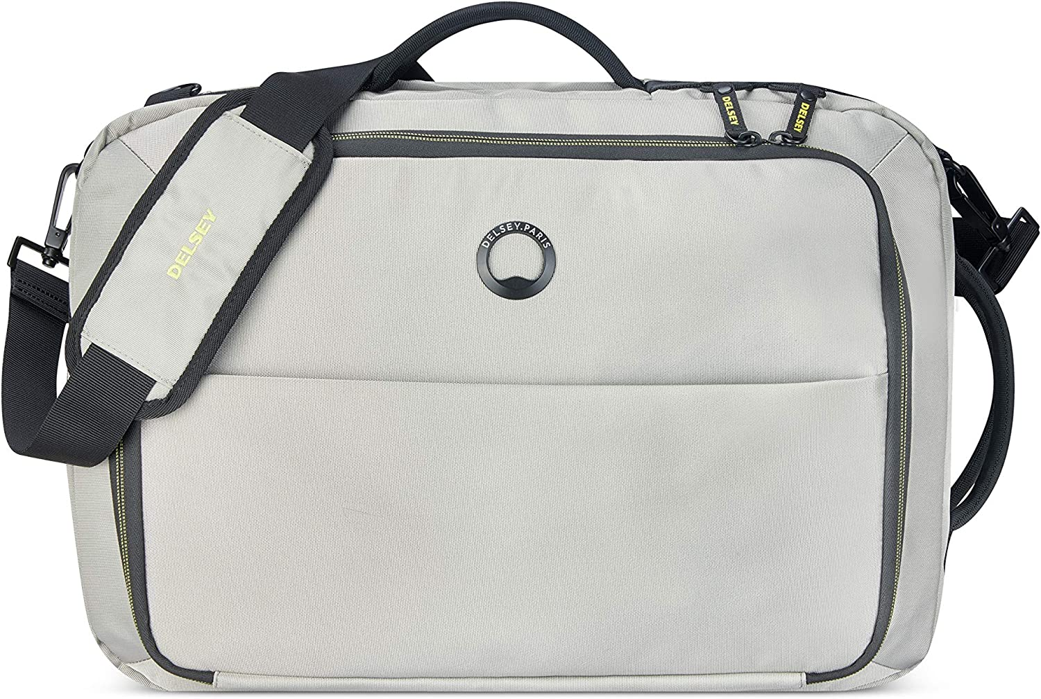 DELSEY Paris Daily's Two Compartment Laptop Messenger Shoulder Bag, Light Gray, 15.6 Inch Sleeve
