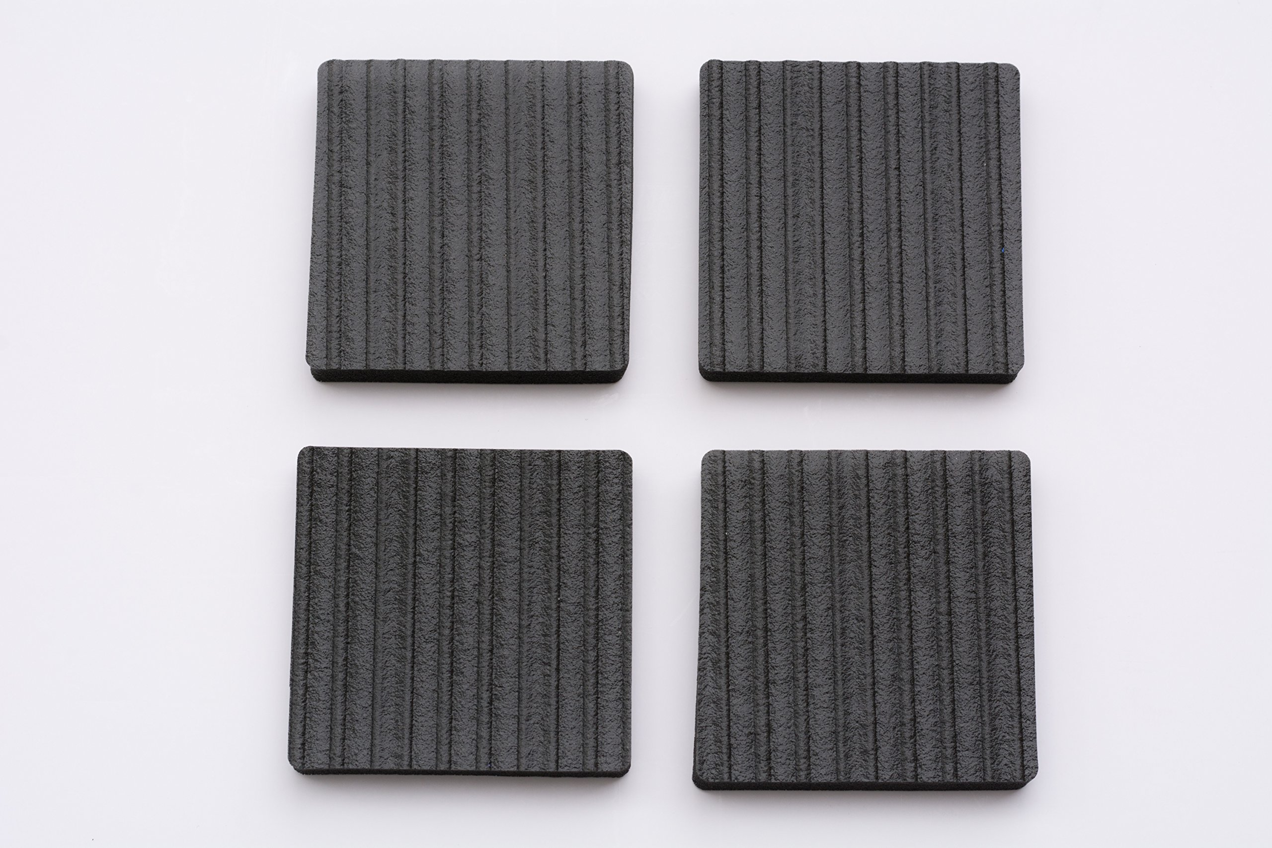 Lil Grippers Square Furniture Pads - Keep Furniture Where it Belongs! (3 Inch) 4 Pack by Lil Grippers