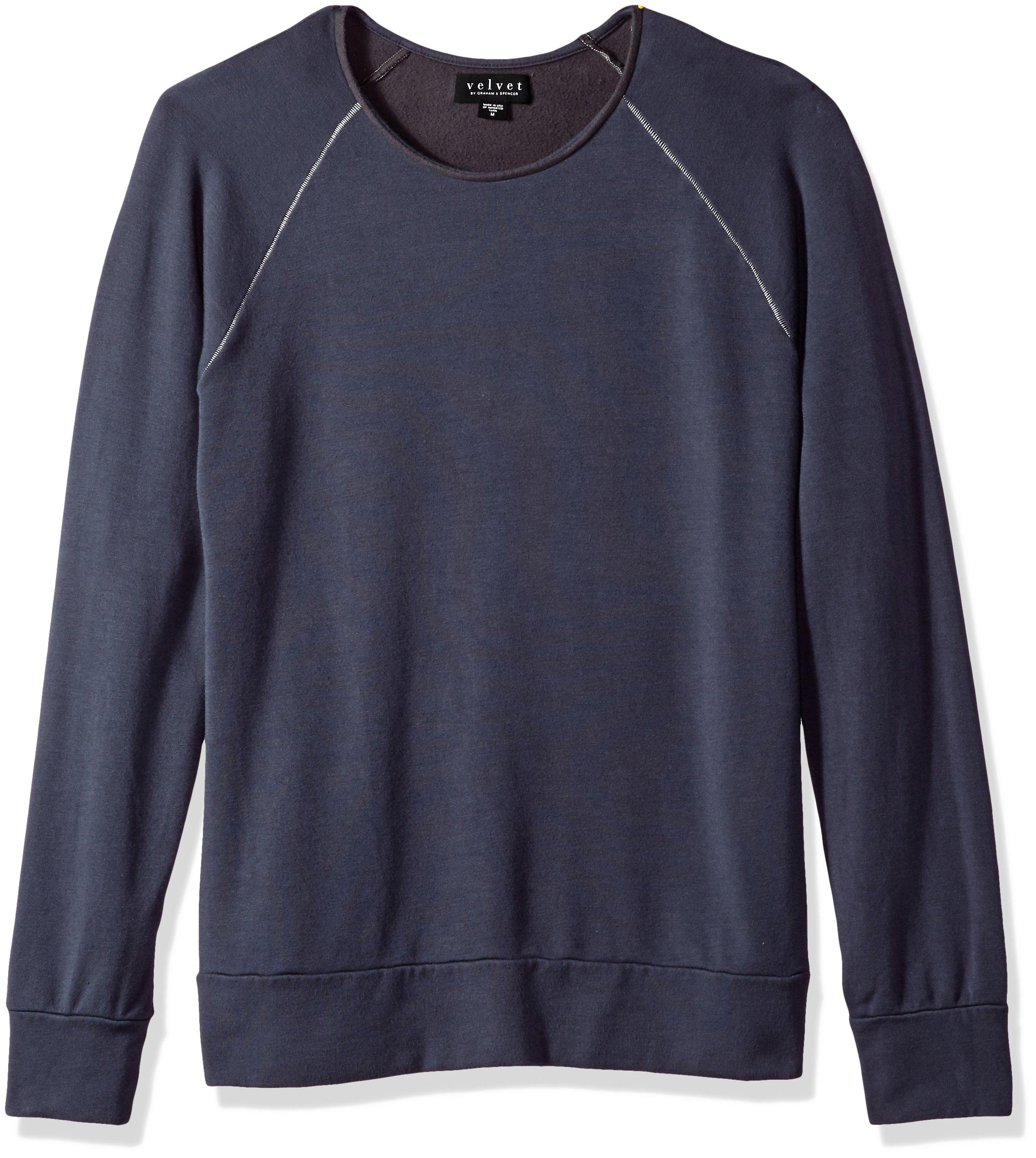 VELVET BY GRAHAM & SPENCER Men's Ovid Long Sleeve Sweater, Brimstone, Medium