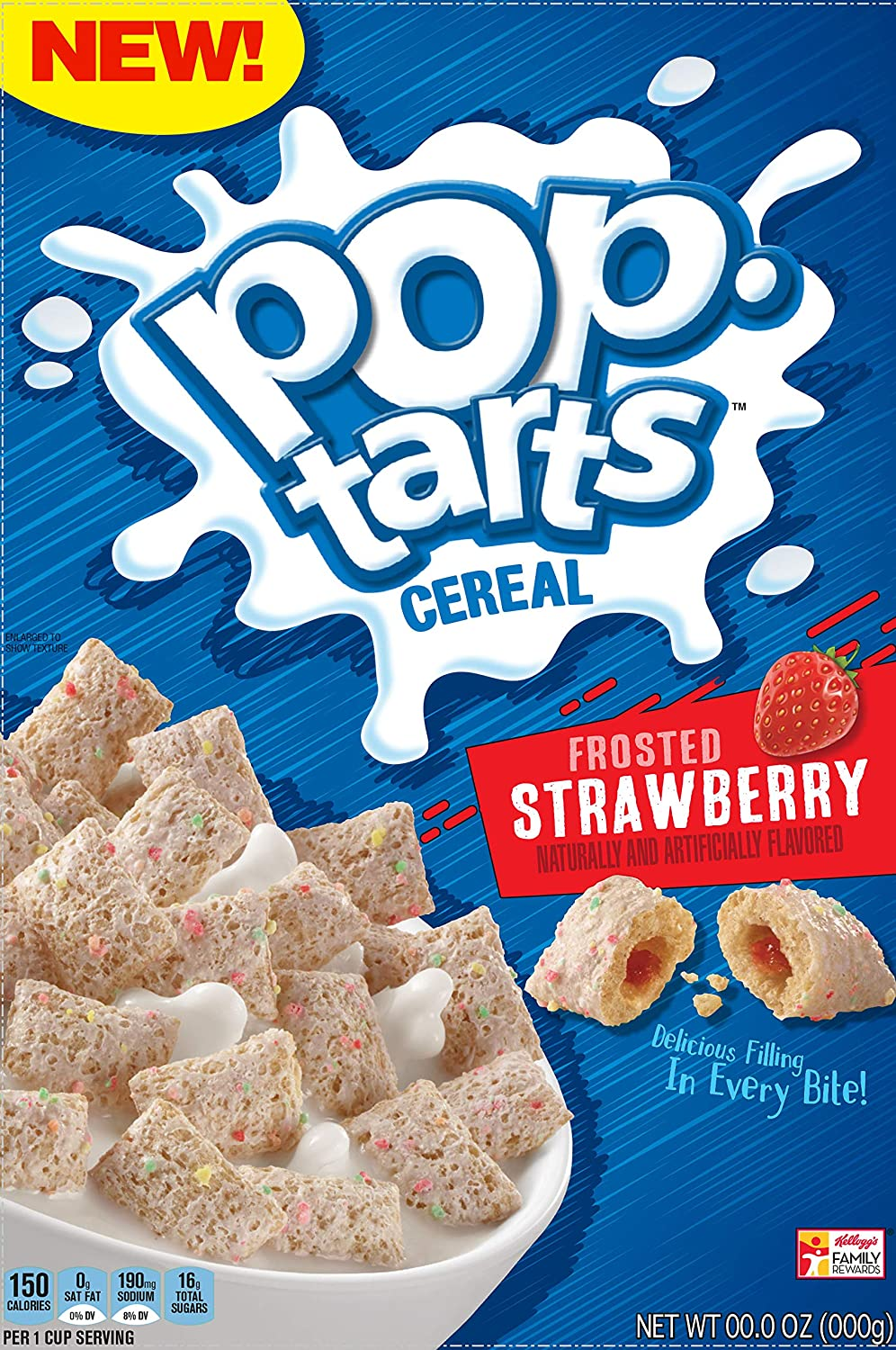 Pop-Tarts, Breakfast Cereal, Frosted Strawberry, A Good Source of Fiber, 11.2oz Box