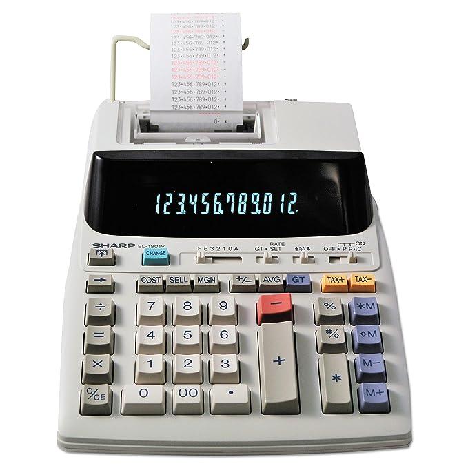 amazon com sharp el 1801v portable 12 digit 2 color compact rh amazon com sharp el-1801p manual pdf sharp el 1801piii manual pdf