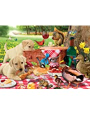 Buffalo Games-Adorable Animals-Picnic Raiders-300 Large Piece Jigsaw Puzzle