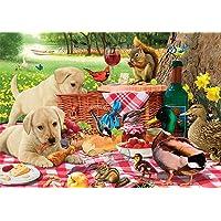 Buffalo Games-Adorable Animals-Picnic Raiders-300 Large Piece Jigsaw Puzzle