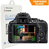 Nikon D5600 D5300 D5500 LCD Tempered Glass Screen Protector, Exuun Optical 9H Hardness 0.33mm Ultra-Thin DSLR Camera Tempered Glass for Nikon D5300 D5500 D5600
