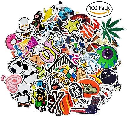amazon com gogogu 100 pcs car stickers motorcycle bicycle luggage
