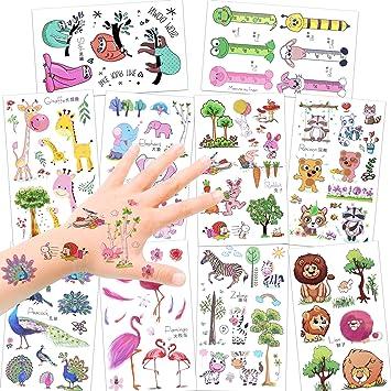 Konsait 150pcs Animales Tatuajes temporales niños, Falso Tatuajes temporales Pegatinas para niños niñas Fiestas Infantiles Fiesta de cumpleaños Regalo ...