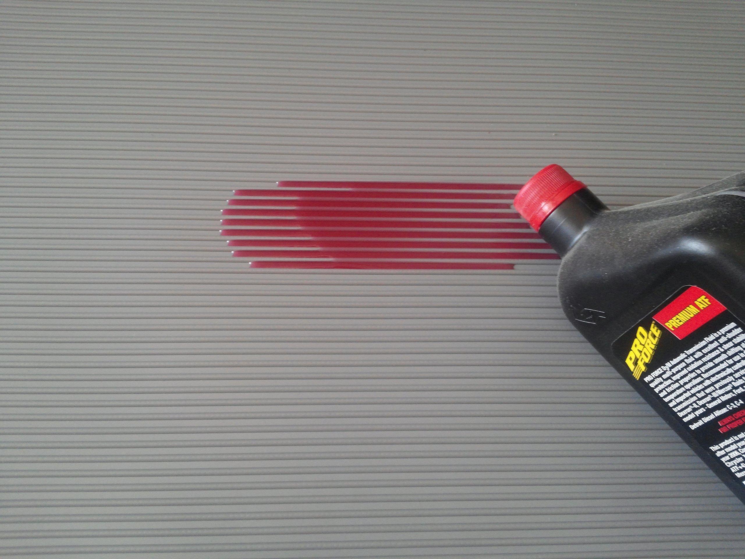 Garage Floor Mat by Weatherfit™ - Rubber Parking/Car Fluid Drip & Spill Mat 8' x 4' x 1/8'' Thick with liquid catch Ridges