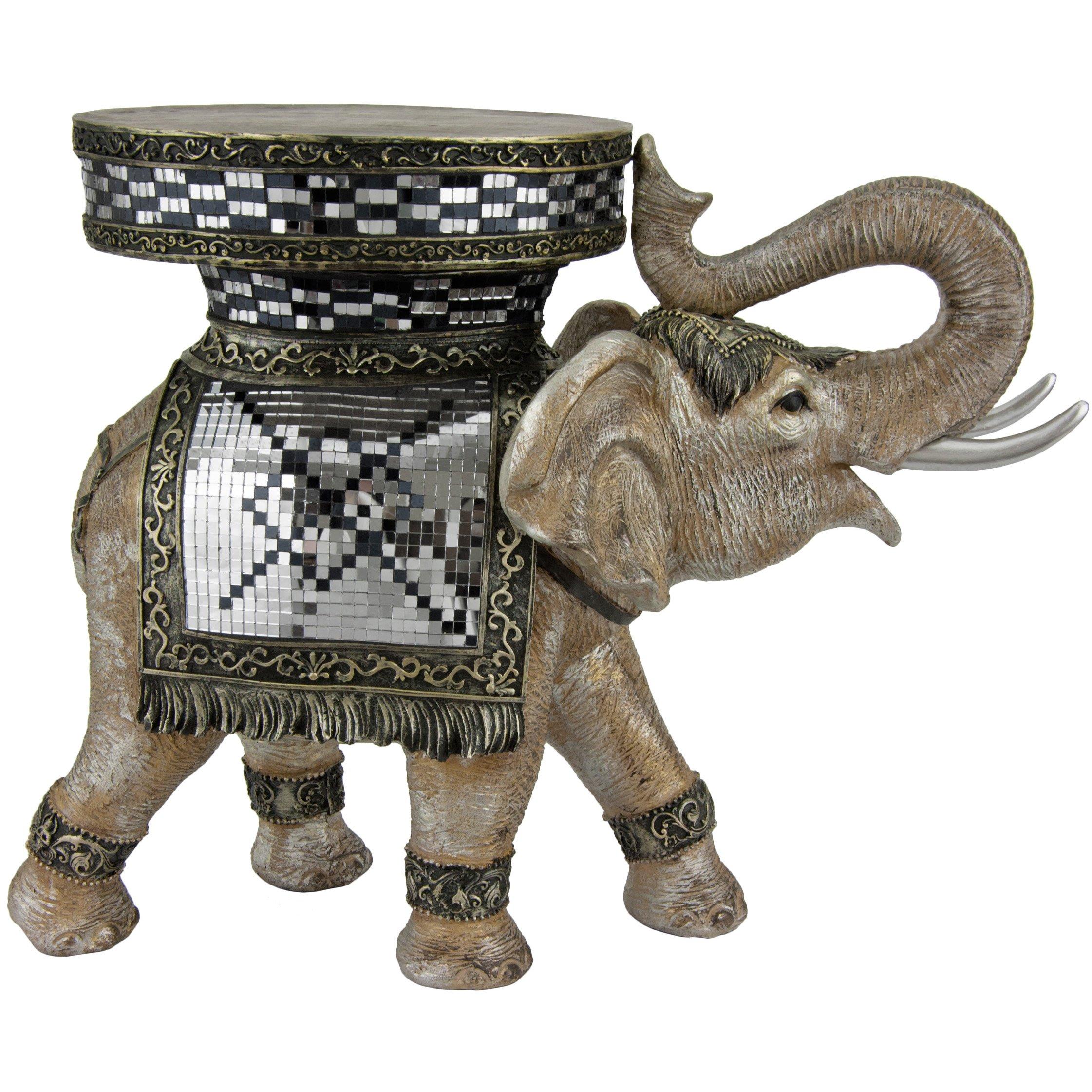 Oriental Furniture 20'' Standing Elephant Statue