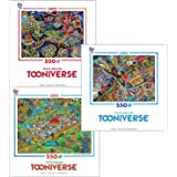 Tooniverse by Steve Skelton 550 Piece Jigsaw Puzzle Deluxe Gift Set (3 Puzzles) 2357